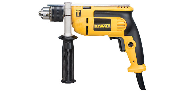 DEWALT DWD024K-GB Percussion Corded Drill With Kit Box - 650W