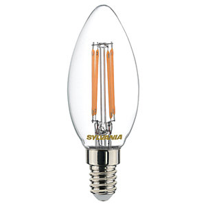 Sylvania LED Filament E14 Candle Bulb - 4.5W Pack of 4