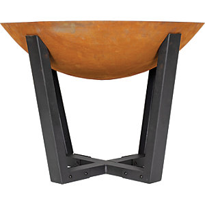La Hacienda Icarus Contemporary Outdoor Firepit Orange