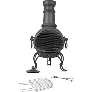 La Hacienda Murcia 35in Outdoor Chimenea Black