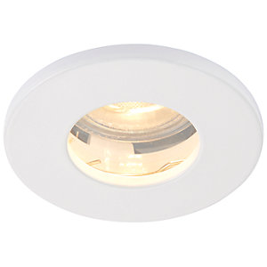Saxby GU10 IP65 Cast Fixed Downlight - Gloss White