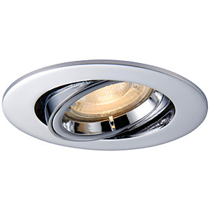 Image of Saxby GU10 Cast Adjustable Downlight - Chrome Effect