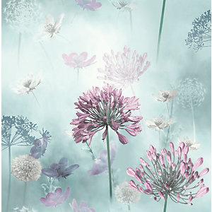 Arthouse Spring Meadow Duck Egg Wallpaper 10.05m x 53cm