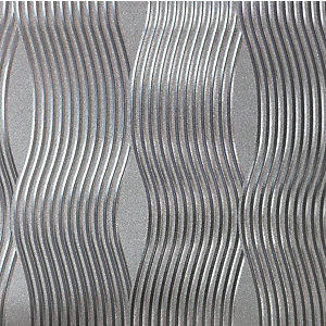 Arthouse Wave Silver Foil Wallpaper 10.05m x 53cm