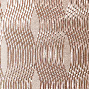 Arthouse Wave Rose Gold Foil Wallpaper 10.05m x 53cm