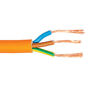 3 Core Round Flexible Cable 1.5mm 3183Y Orange 25m