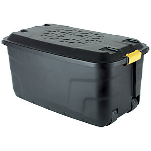 Image of Strata 145L Black Wheeled Storage Trunk