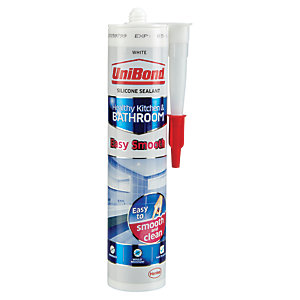 UniBond Easy Smooth Kitchen & Bathroom Sealant White 371g