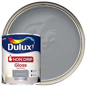 Dulux Non Drip Gloss Natural Slate Paint 750ml