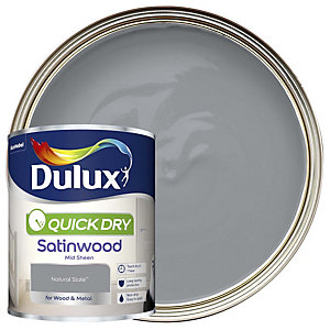 Dulux Quick Dry Satinwood Natural Slate Paint 750ml