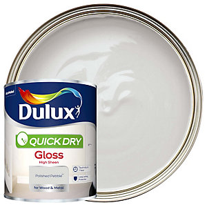 Dulux Quick Dry Gloss Polished Pebble Paint 750ml