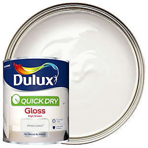 Dulux Quick Dry Gloss White Cotton Paint 750ml