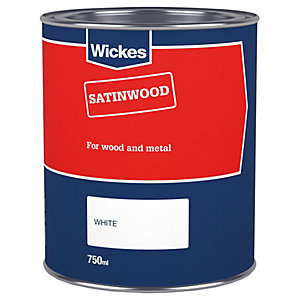 Wickes Basic Satinwood White 750ml