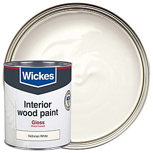 Wickes Quick Dry Gloss Victorian White 750ml