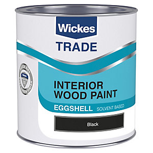 Wickes Trade Eggshell Black 1L
