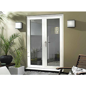 Wickes Burman Slimline White French Door - 1490mm