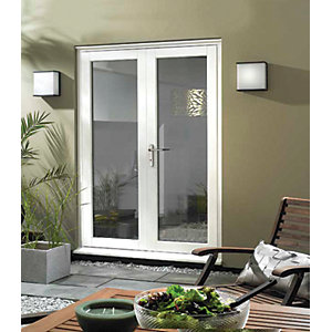 Wickes Burman Slimline White French Door - 1790mm