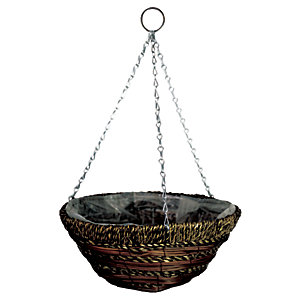 Gardman 14in Sisal Rope & Fern Hanging Basket