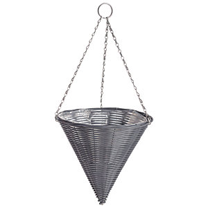 Gardman 14in Rattan Dark Grey Hanging Cone
