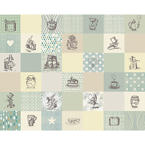 Image of ohpopsi Alice in Wonderland Adventure Wall Mural - L 3m (W) x 2.4 (H)