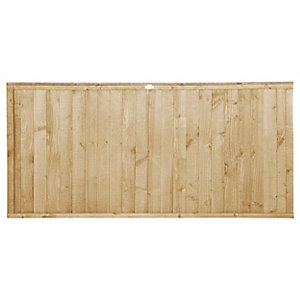 Forest Garden Pressure treated Closeboard Fence Panel - 6x3ft Multi Packs
