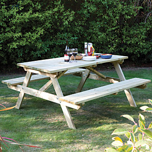 Rowlinson Pressure Treated 4ft Picnic Table