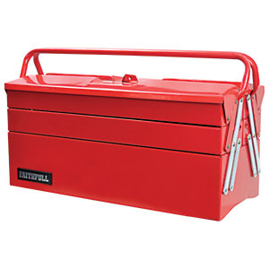 Faithfull Metal Cantilever Tool Box 5 Tray 500mm (19in)