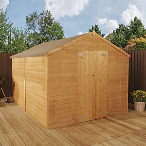 Mercia 10 x 8 ft Overlap Apex Windowless shed