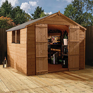 Mercia 8 x 8 ft Pressure Treated Shiplap Apex Shed