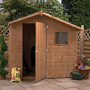 Mercia 7 x 5 ft Pressure Treated Shiplap Reverse Apex Shed