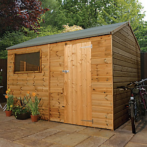 Mercia 10x8 ft Pressure Treated Shiplap Reverse Apex Shed