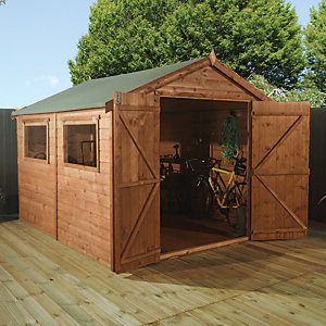 Mercia 10x6 ft Pressure Treated Shiplap Apex Shed