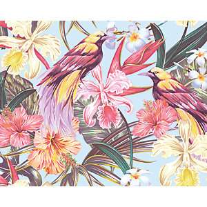 ohpopsi Tropical Exotic Flowers Wall Mural