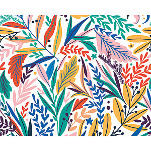 ohpopsi Tropical Patterned Leaves Wall Mural