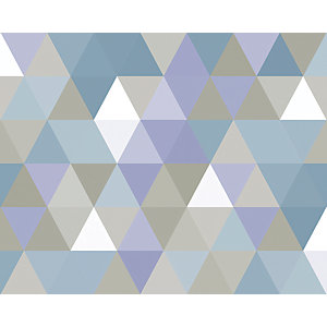 ohpopsi Multi Coloured Geometric Triangles Wall Mural