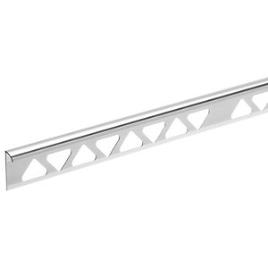 Homelux 8mm Metal Quadrant Silver Tile trim 2.44m