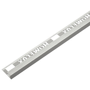 Homelux 9mm Metal Square Stainless Steel Square Tile Trim 2.44m