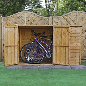 Mercia 3x6 ft Overlap Pent Bike Store