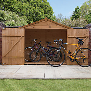 Mercia 3x7 ft Pressure Treated Shiplap Apex Bikestore
