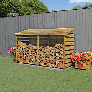 Mercia 3x6 ft Premium Pressure Treated Double Log Store
