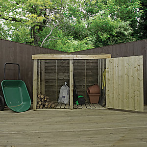 Mercia 3x6 ft Premium Pressure Treated Double Store