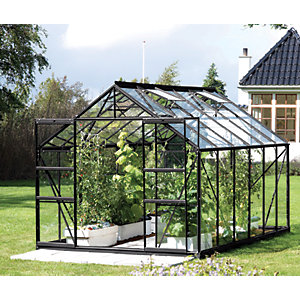 Vitavia Jupiter 8 x 12 ft Black Toughened Glass Greenhouse