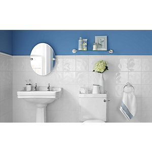 Wickes White Bumpy Ceramic Wall Tile 200 X 200mm