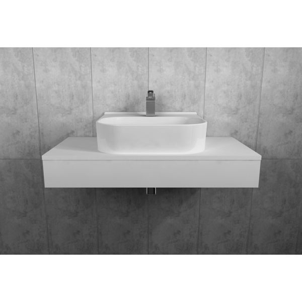 Wickes Lisbon Light Grey Floating Shelf Only - 900 x 400mm