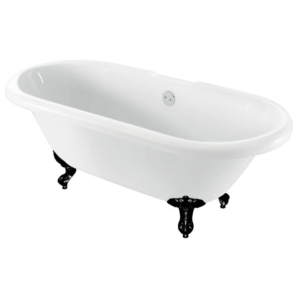 Wickes Hampstead Freestanding Traditional Double Ended Roll Top Bath - 1700mm