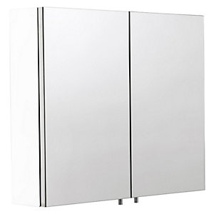 Croydex Folded White Steel Double Door Cabinet - H670 x W600mm