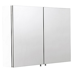 Croydex Folded White Steel Double Cabinet - H670 x W800mm