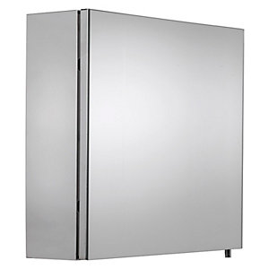 Croydex Folded Stainless Steel & MDF Carcass Single Door Cabinet - H670xW500mm