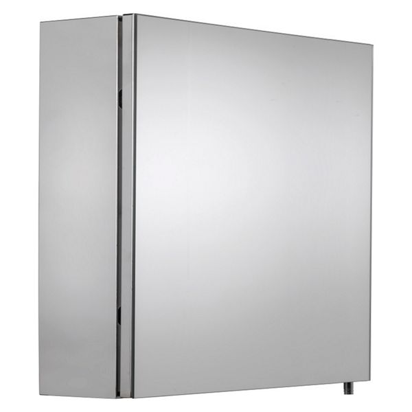 Croydex Folded Stainless Steel & MDF Carcass Single Door Bathroom Cabinet - 670 x 500mm