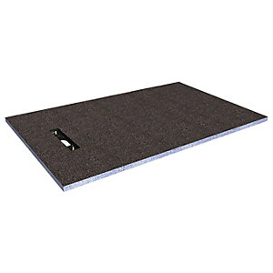 Wickes Linear 30mm Wetroom Shower Tray with End Drain Level Access - 1600 X 900mm